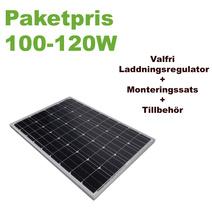 Paket 100-120W + valfri laddningsregulator & monteringsfäste